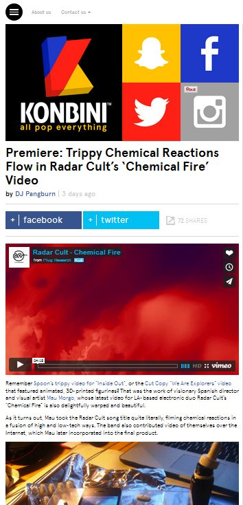 Premiere: Trippy Chemical Reactions Flow in Radar Cult's